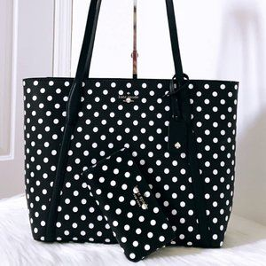 New Kate Spade Cara Large Leather Tote And Wallet